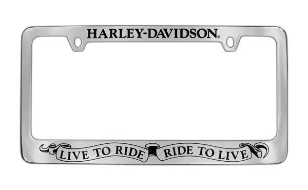 Set of 2 Harley-Davidson License Plate Chrome Plated Solid Brass ...