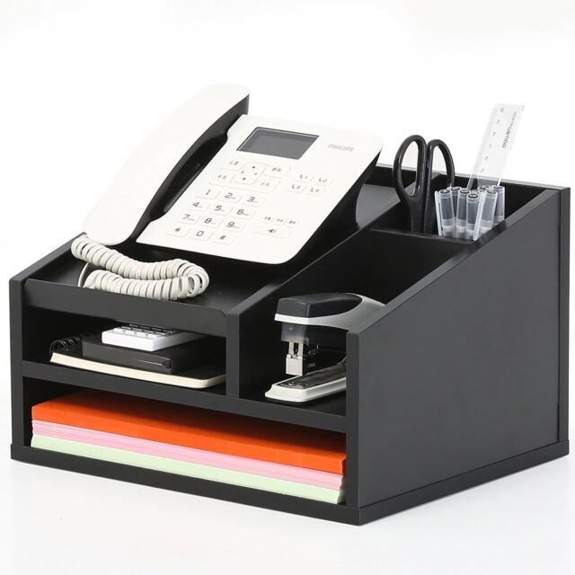 Delightful Wood Desktop Office Organizer/Workspace Organizers/Phone Holder/File  Supplies