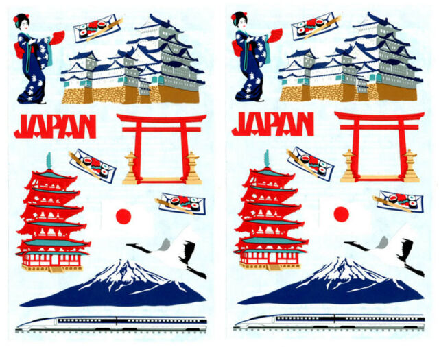 Mrs Grossmans Japan Scrapbook Stickers Geisha Mt Fuji Asian Sushi 2
