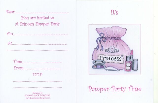 exclusive girls princess pamper party invitations envelopes - Pamper Party Invitations