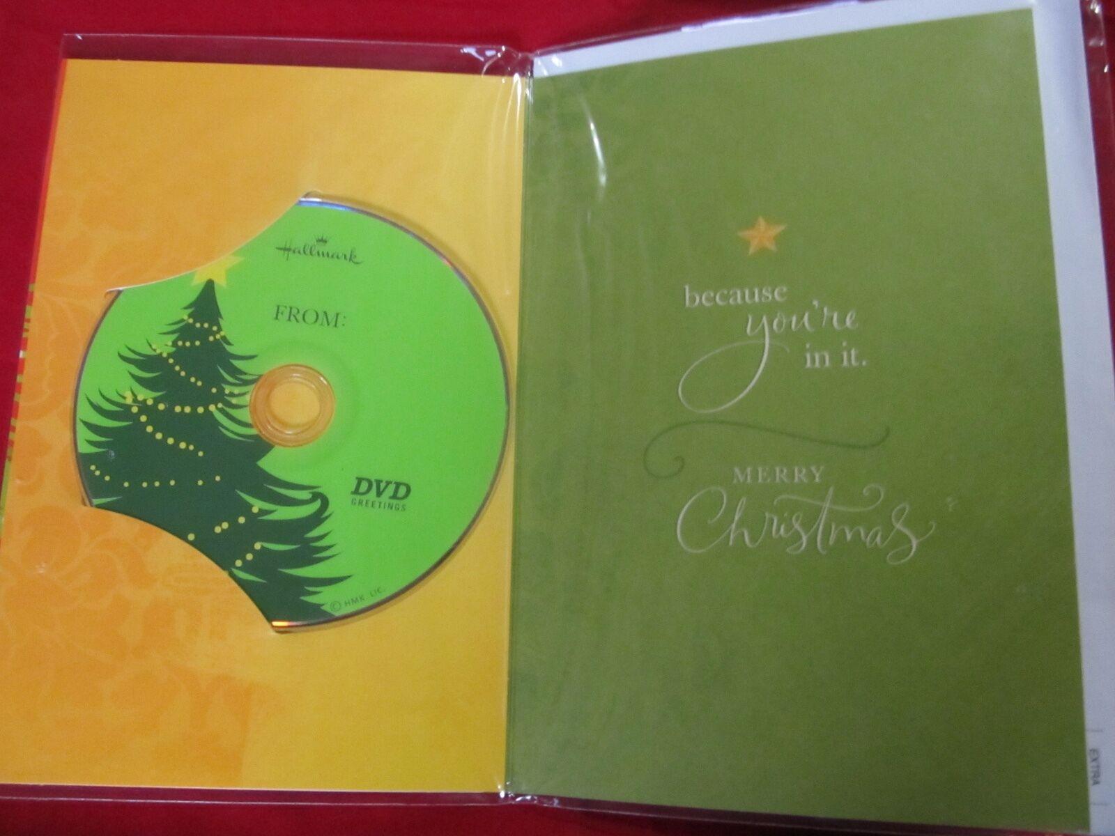Hallmark 15 Photo Musical Recordable Dvd Christmas Greetings Card