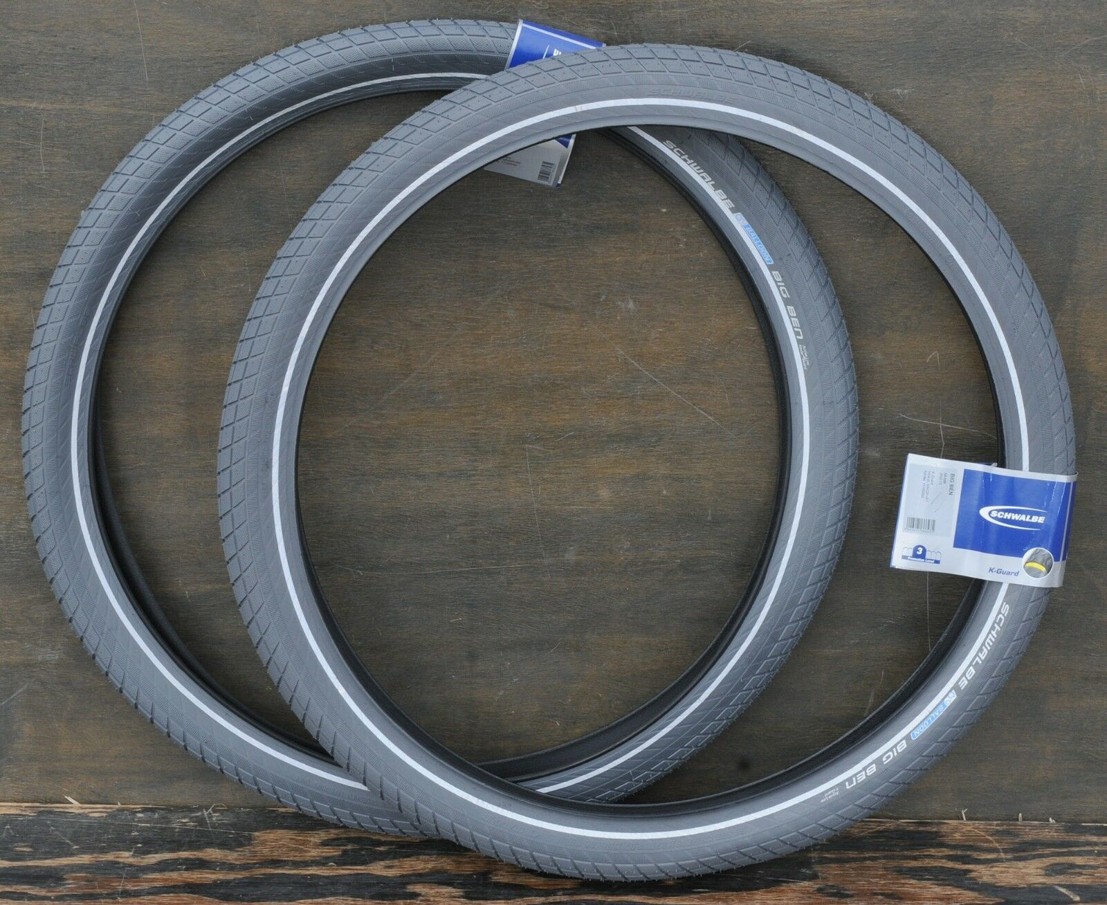 26 X2 15 Fat Grey Schwalbe Bb Cruiser Bicycle Tires Vintage