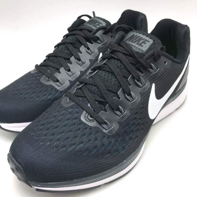 Nike Women's Air Zoom Pegasus 34 Running Shoes Black/White-Dark Grey 880560-