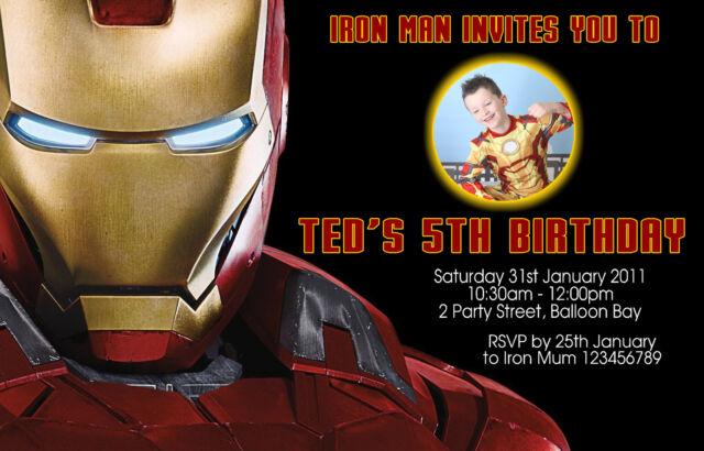 Personalised ironman superheroes batman spiderman hulk birthday personalised ironman superheroes batman spiderman hulk birthday invitations filmwisefo