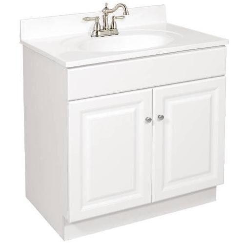 30 X 18 Wyndham Bathroom Vanity Cabinet Ready To Emble 2 Door White Ebay