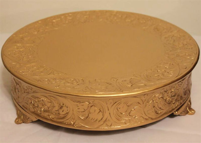 wedding cake plateaus grand wedding matte gold cake stand plateau 14 inch 23500