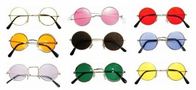 Hippy Hippie 60s 70s John Lennon Round Ozzy Granny Fancy Dress Costume Glasses