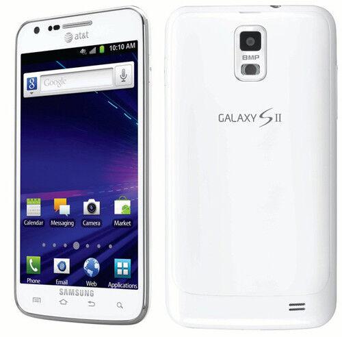 White AT&T SAMSUNG GALAXY S2 S II SKYROCKET SGH-I727 4G LTE 16GB GSM SMARTPHONE