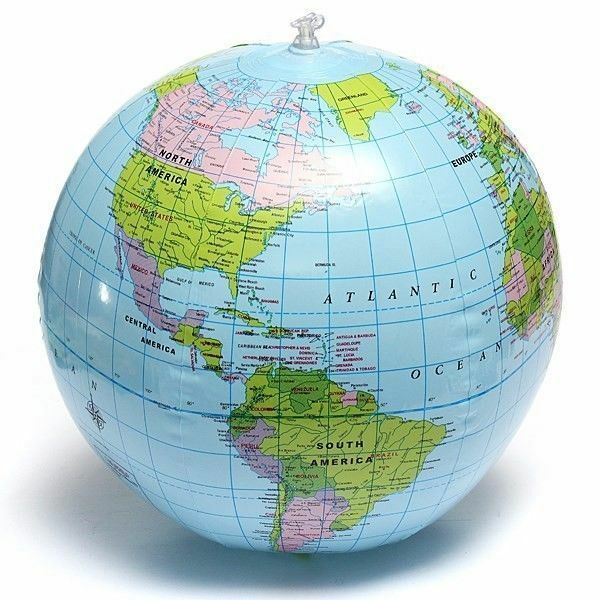 38cm inflatable world globe earth teaching geography map beach ball 38cm inflatable world globe earth teaching geography map beach ball kids toy ebay gumiabroncs Gallery