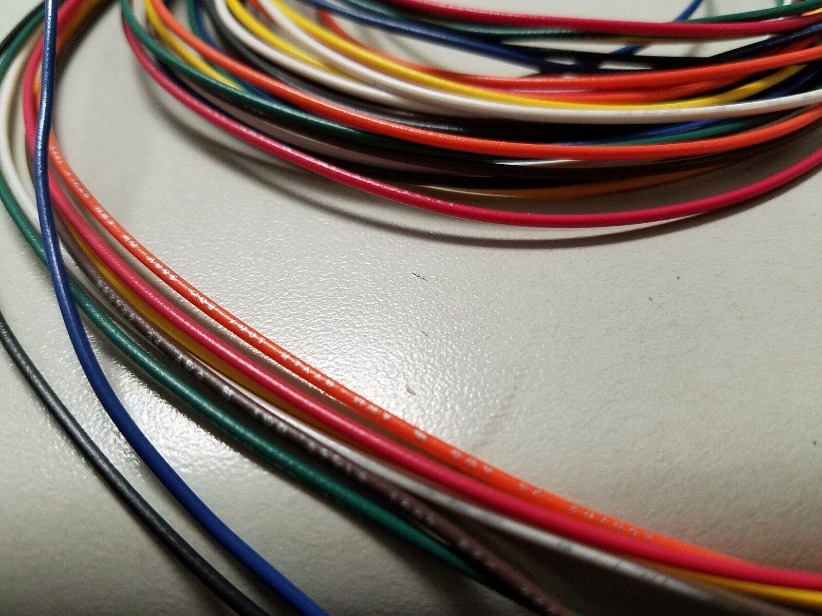 24 AWG Gauge Stranded Hook up Wire Kit 100 FT EA Reels 8 Color ...