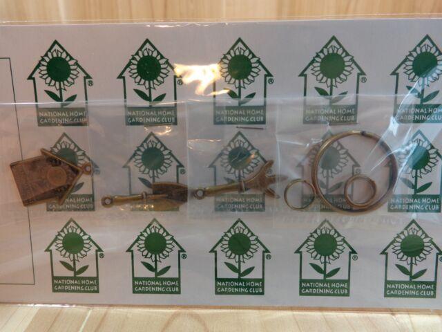 National Home Gardening Club Key Chain Shovel Trowel Birdhouse You