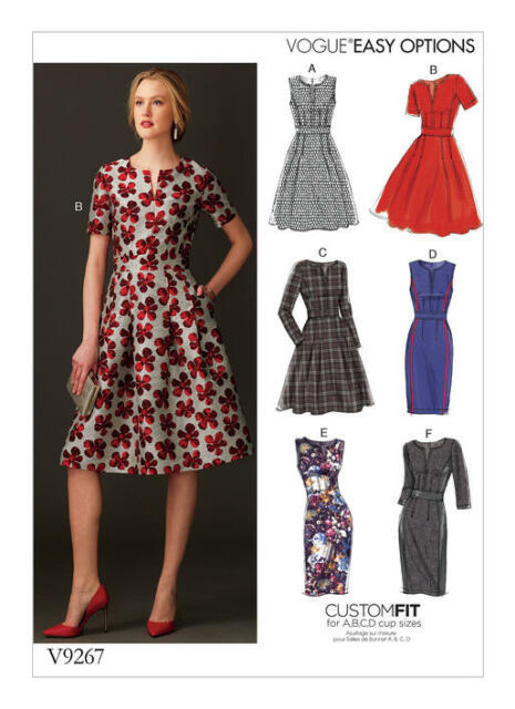 Vogue Sewing Pattern 9267 Misses Sz 6-14 Easy Custom Sized Fit ...