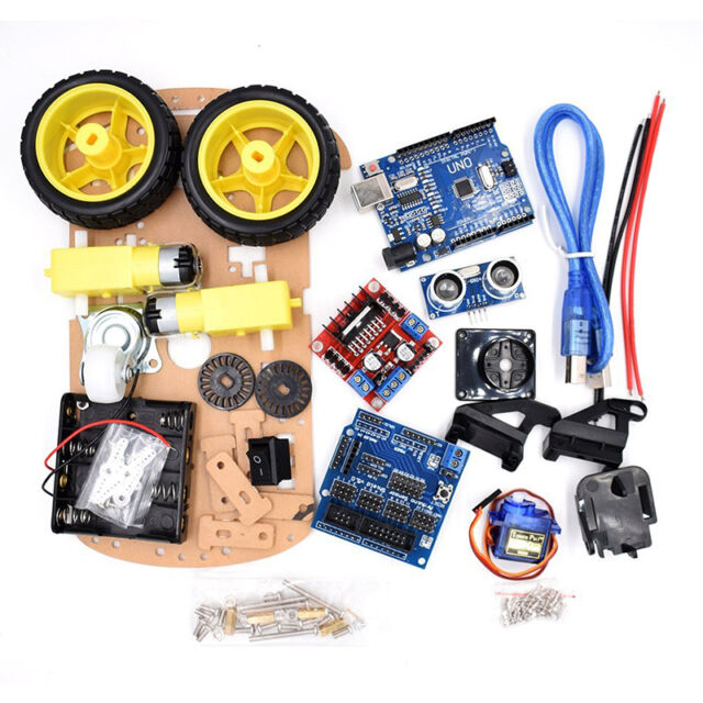 Avoidance tracking motor smart robot car chassis kit wd