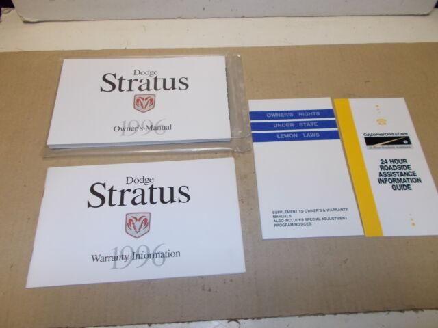 1996 dodge stratus owners manual ebay rh ebay com 2002 Dodge Stratus 1997 Dodge Stratus