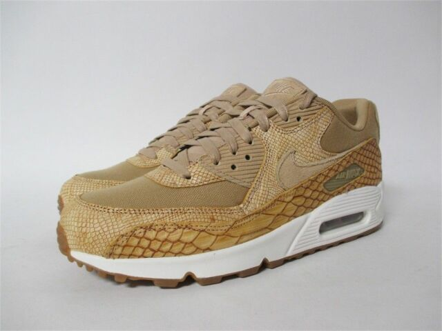 Nike Air Max 90 Premium Leather Men Lifestyle Kicks Vachetta Tan