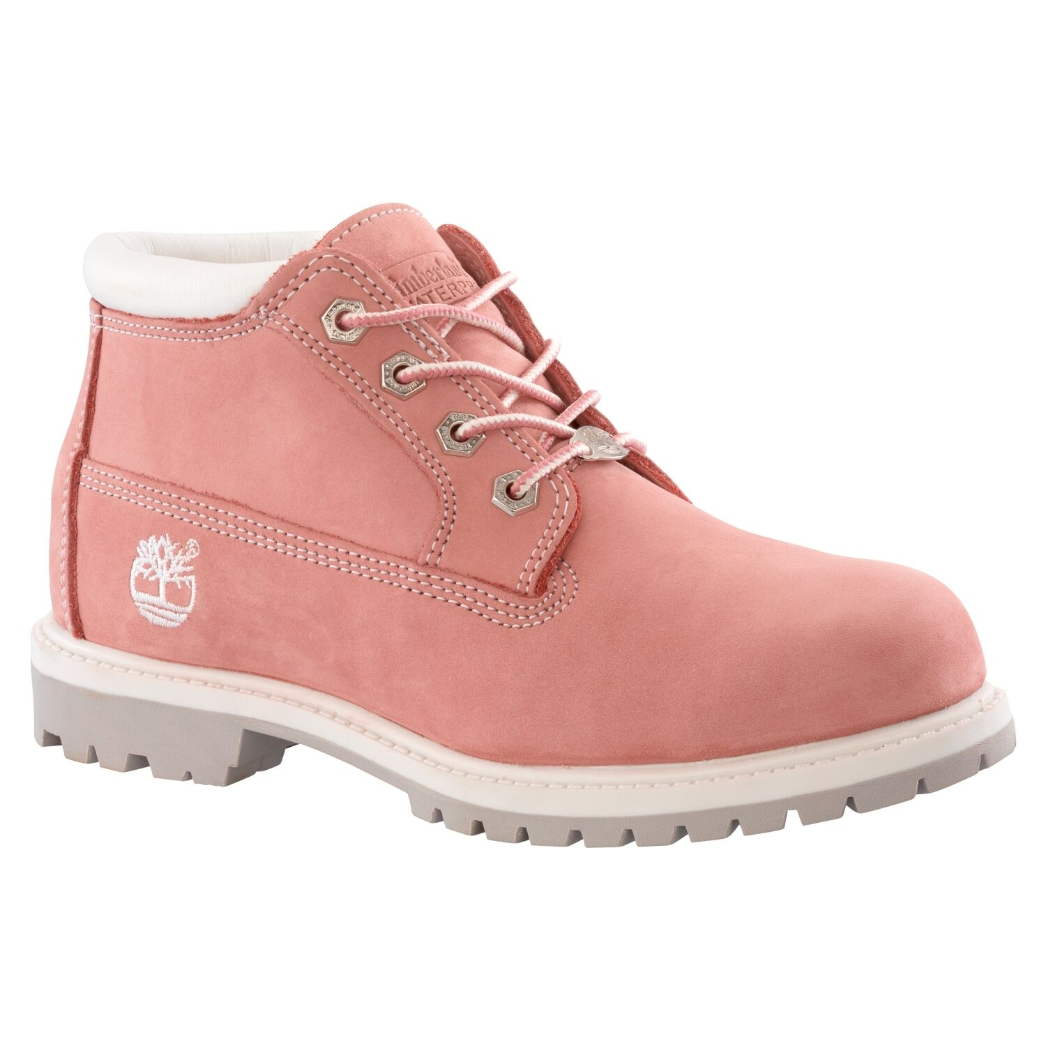 Timberland Nellie Womens Size 9 Pink Leather Chukka BOOTS UK 7 EU 40 f0f17fb209
