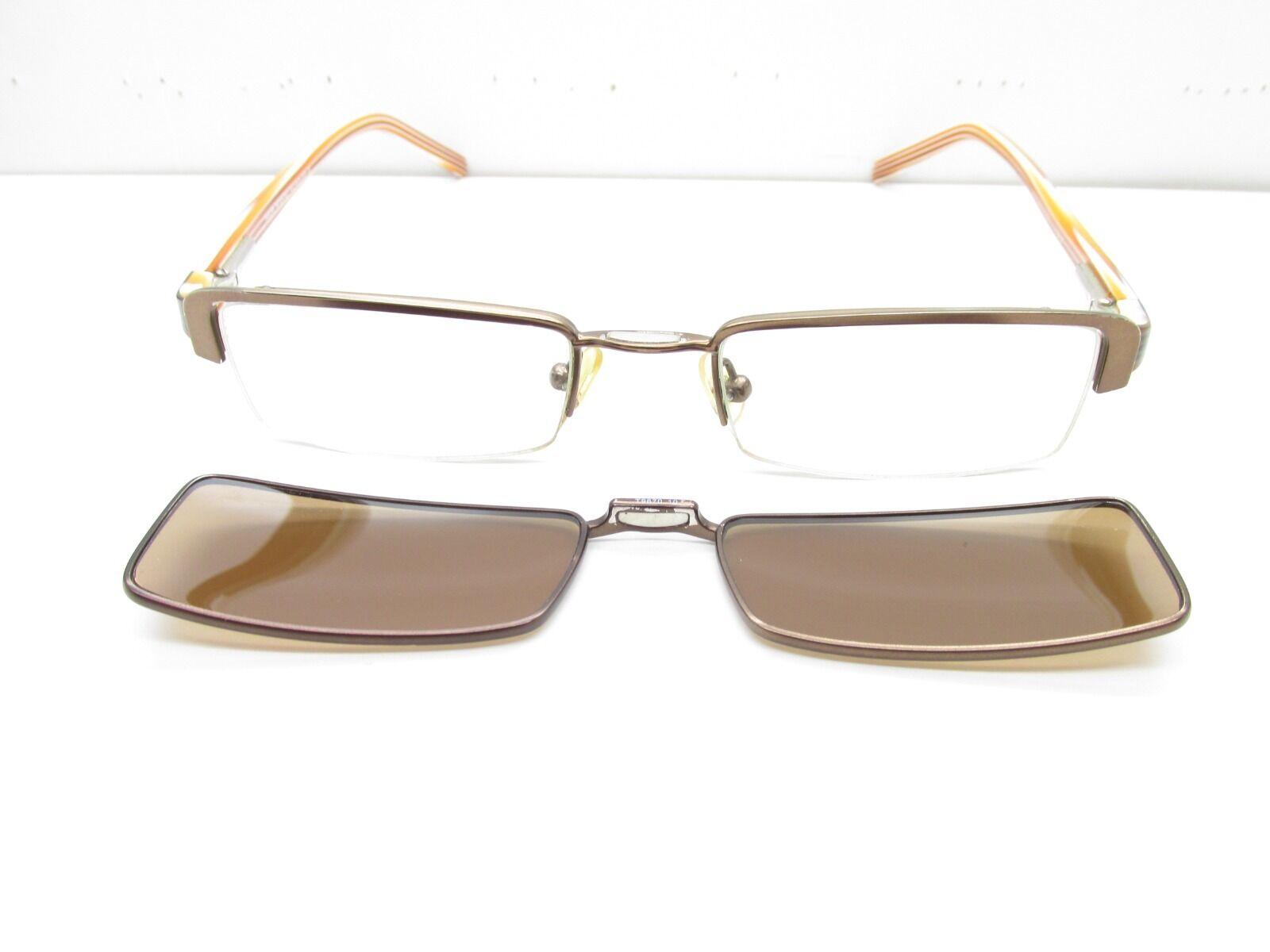 Takumi T9670 Eyewear Frames W Sunglass Clip-on 49-19-135 Rectangle ...