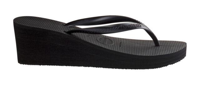 HAVAIANAS alta moda nero infradito con zeppa