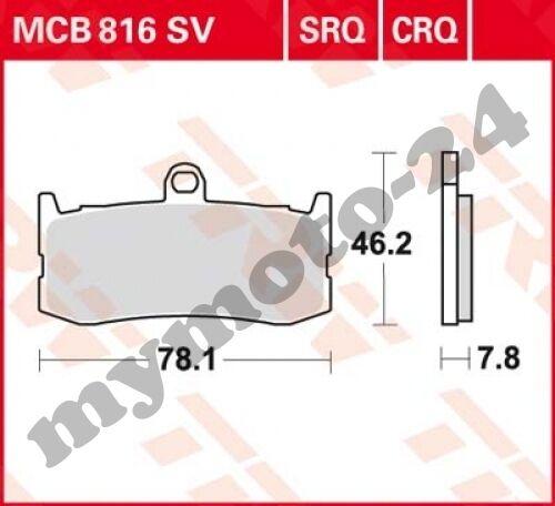 Bremsbelag TRW / Lucas MCB816SV, Sinter Performance mit ABE
