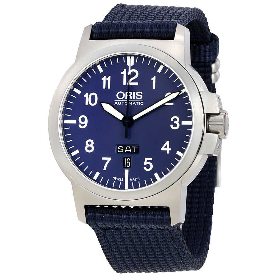stainless boca mens steel watches faced blue oris steeel product men watch s raton