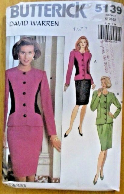 Butterick Sewing Pattern Ladies Suit No. 5139 Sizes 18 20.22 | eBay