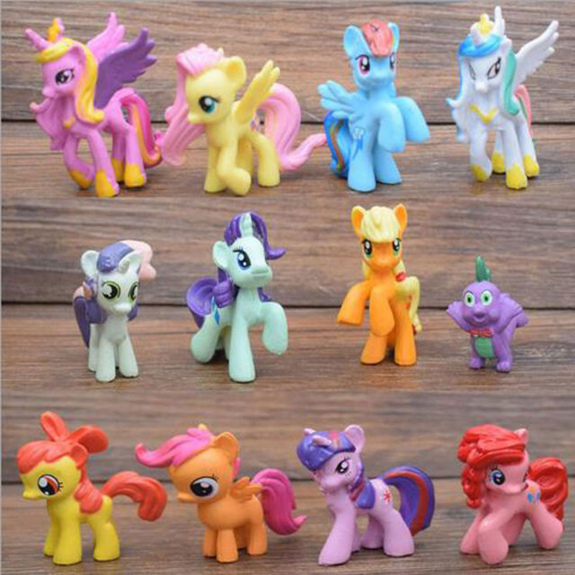 Toys For Ponies : Pcs my little pony cake toppers pvc kids girls toys