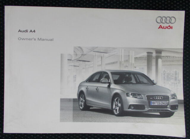 audi a4 owners handbook manual with wallet 2008 post concert sound rh ebay co uk 2001 Audi A4 Manual 2018 Audi A4 Manual