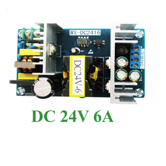 AC DC Inverter 110v 220v 100-265v to 24v 6a Switching Power Supply ...