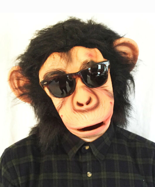 Chimp Mask Bruno Mars Lazy Song Monkey Ape Costume Fancy