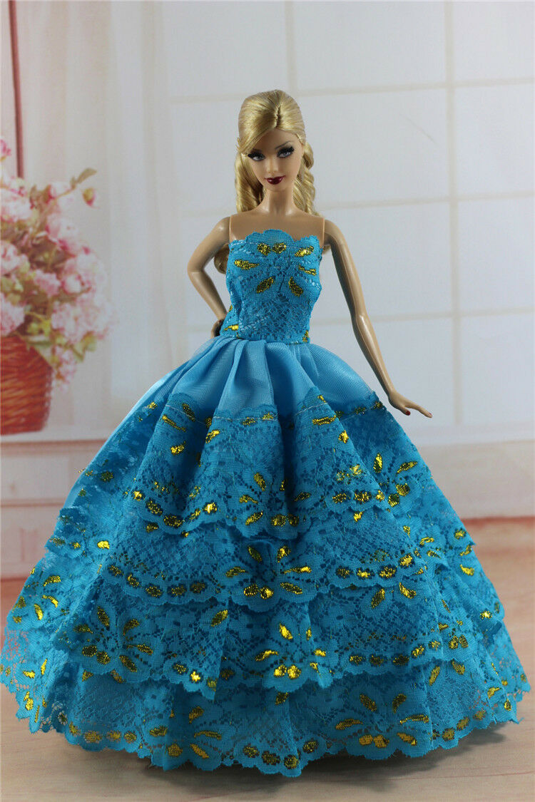 Fashion Princess Party Dress/evening Clothes/gown for Barbie Doll ...