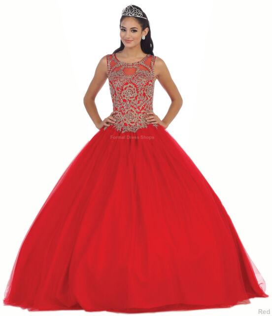 Masquerade Ballroom Quinceanera Prom Queen Dance Dress Sleeveless ...