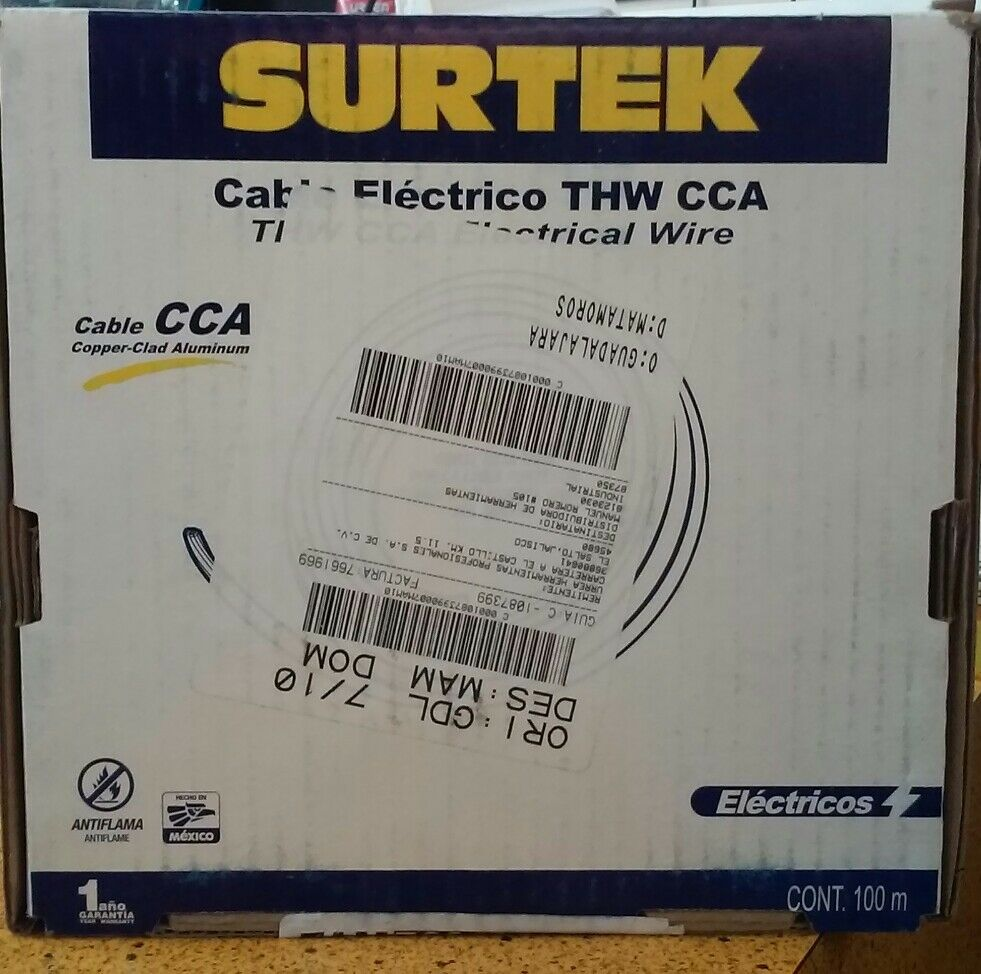 Surtek 136948 THW CCA Electrical Wire 12 Gauge 100 Meter | eBay