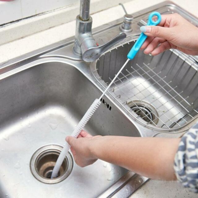 Bon 71cm Flexible Sink Overflow Drain Unblocker Clean Brush Cleaner Kitchen  Tool HOT