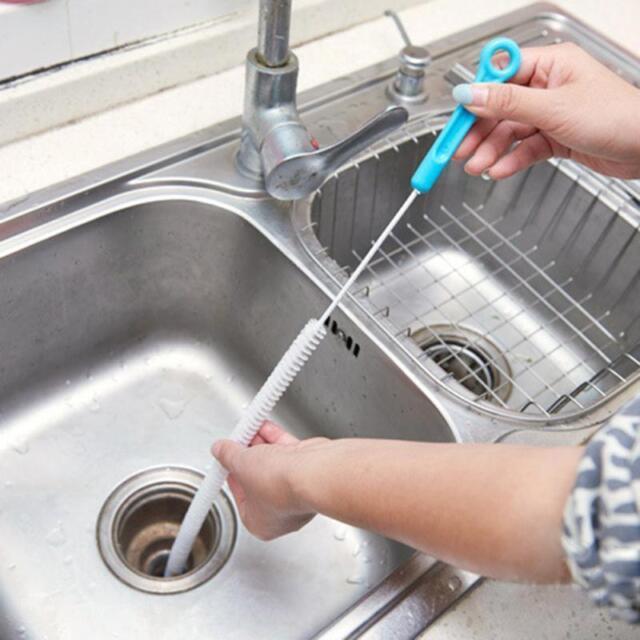 71cm Flexible Sink Overflow Drain Unblocker Clean Brush Cleaner ...