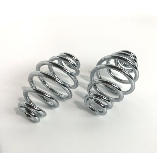 "Chrome 4"" Barrel Solo Seat Springs for Harley Motorcycle Bobber Chopper Customs"