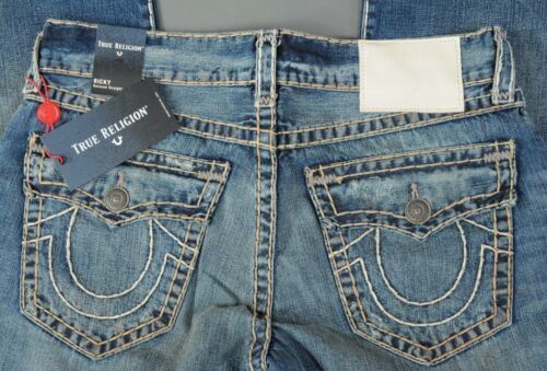 ce3af6b60 True Religion NEW True Religion Jeans RICKY W Flap Super T Relaxed Straight  Size 36 Men s