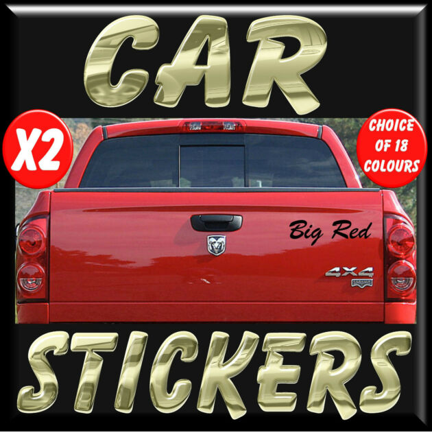New 2x personalised stickers decals vinyl lettering for car bike 4x4 van ka