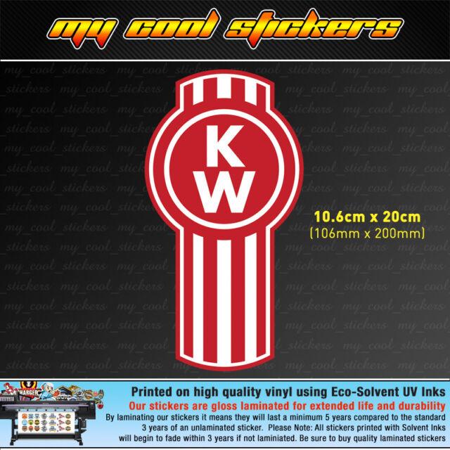 Kenworth trucks logo 20cm vinyl sticker decal 4x4 ute car truck toolbox window