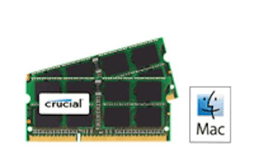 Crucial Ram 4GB kit (2 x 2) DDR2 PC2-5300 667MHz 200 PIN SODIMM for Apple iMac's