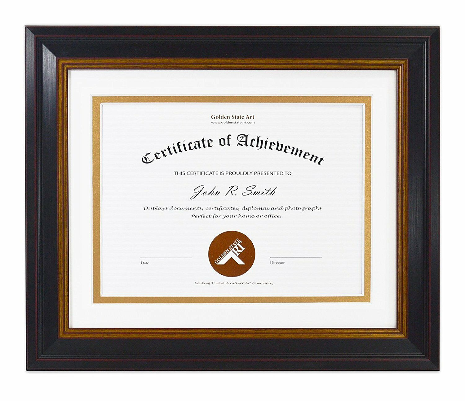 x frame for x diploma black gold burgundy color  picture 1 of 4