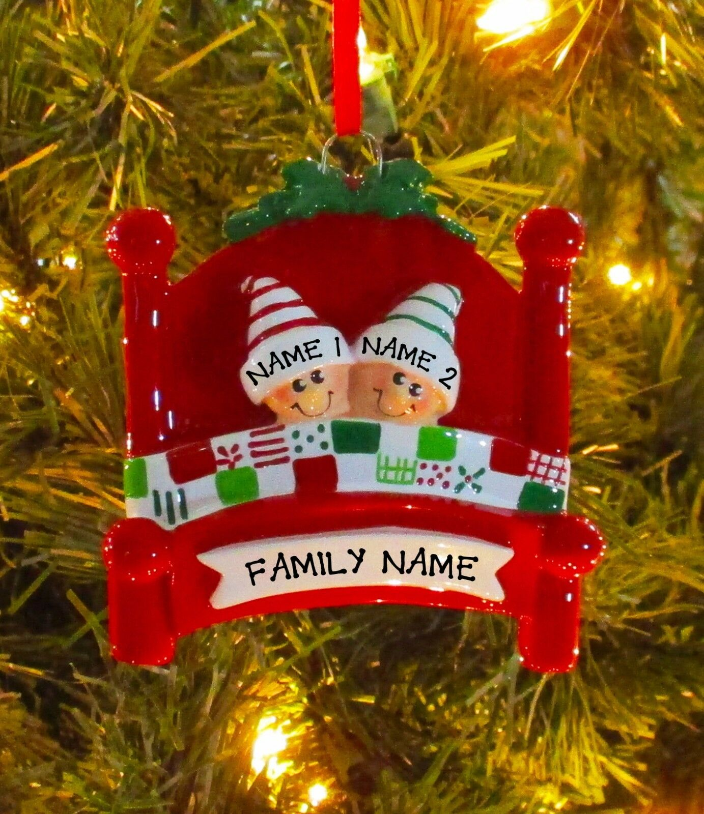 bed heads family 2 personalize it yourself christmas tree ornament
