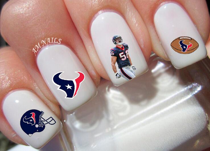 Houston Texans Nail Art Stickers Transfers Decals Set of 34 | eBay
