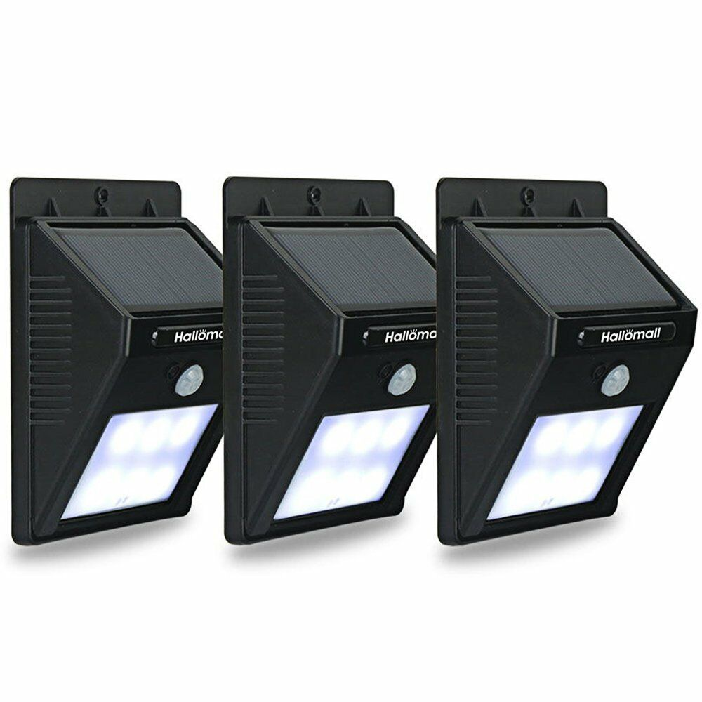 Solar motion sensor lights outdoor detector 3pcs no battery required picture 1 of 7 workwithnaturefo