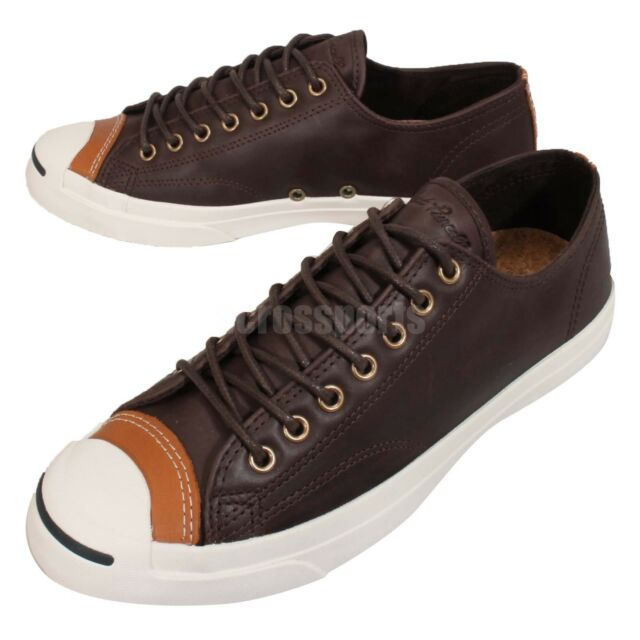 c03d439dd308 usa converse jack purcell jack brown white leather mens shoes sneakers  150294c 9f979 cc695