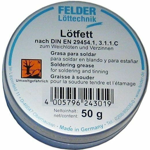FELDER Welding grease 50g Solder Paste soldering Fat Can flux River Medium