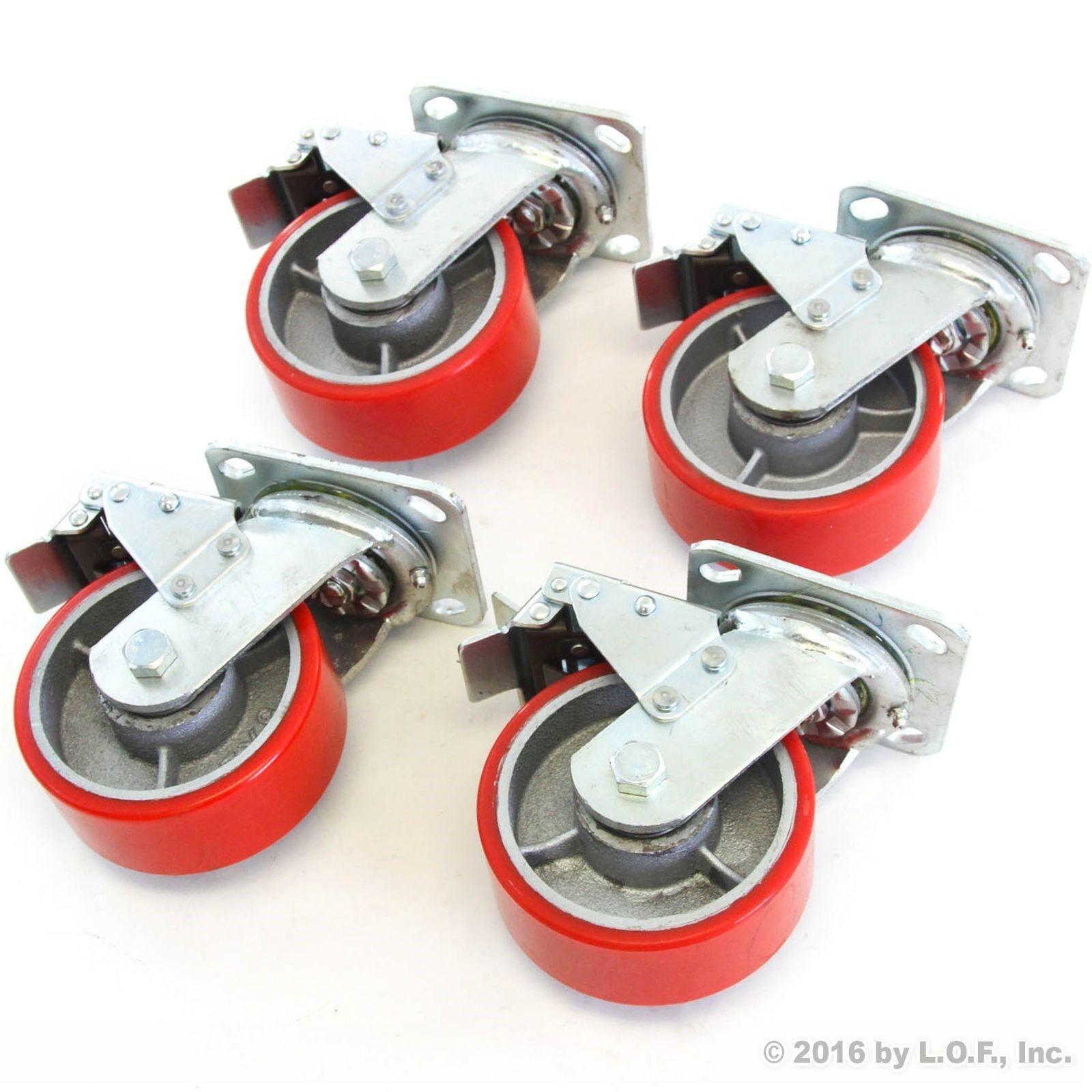 4 Red Brake Wheel Caster 5