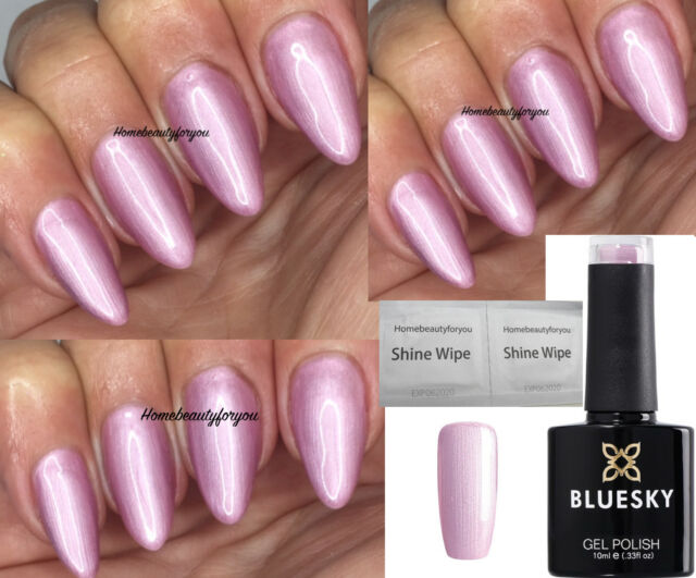 Bluesky 80609 Tundra Pearly Pink Shimmer Aurora Nail GEL Polish UV ...