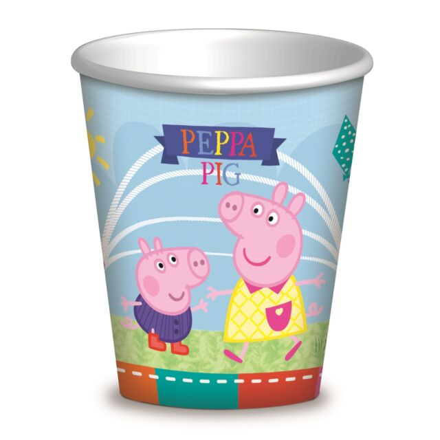 Peppa Pig Park | Skipping | George | Kite 260ml Paper Party Drink Cups 1-48pk