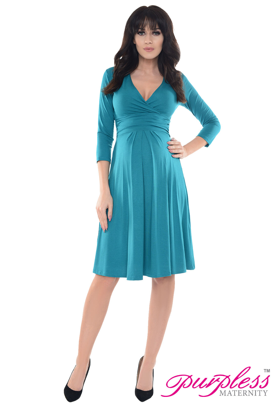 Purpless maternity dress vneck pregnancy clothing size 8 10 12 14 picture 4 of 6 ombrellifo Images