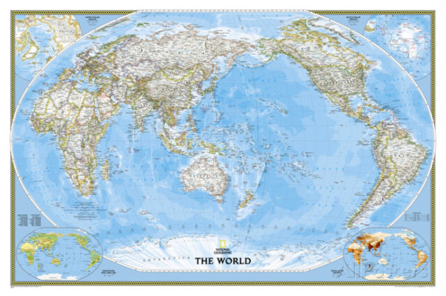 National geographic world classic pacific centered map laminated national geographic world classic pacific centered map laminated poster gumiabroncs Gallery